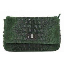 Кожаная женская сумка на цепочке DB975