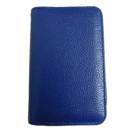 Женский кожаный кошелек DB-007blue