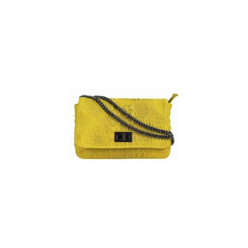 906585efe844 Кожаная женская сумка на цепочке DB975. Loading zoom