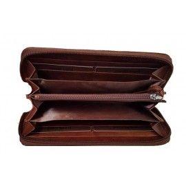Кожаный женский кошелек на молнии TR8291M