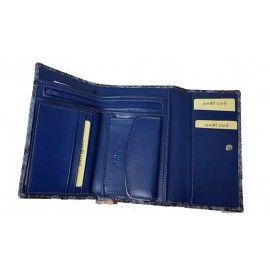 Женский кожаный кошелек с тиснением под питона PT8283A