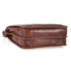Кожаная мужская сумка через плечо DB914