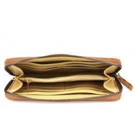 Женский кожаный кошелек на молнии DB517