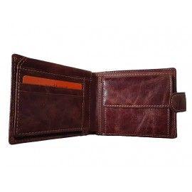 Кожаный мужской кошелек на кнопке СОТ-H28