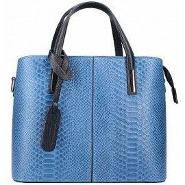 Кожаная женская сумка под питона Italian bags DB9031